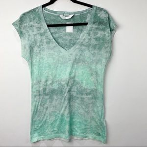 The North Face teal v neck short sleeve T shirt